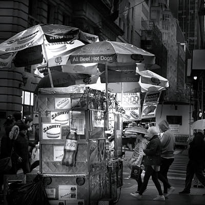 Hotdog Stands Photograph - New York City Hot Dog Stand by Mark Andrew Thomas