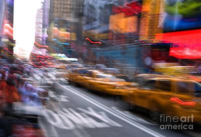 Photograph - New York City Hysteria by Fred Lassmann