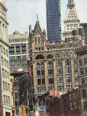 New York City IIi- Union Square/ Broadway Art Print by Henrieta Maneva