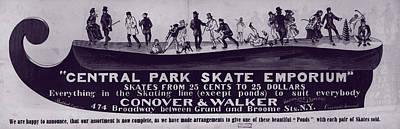 1880s Photograph - New York City, Illustration Advertising by Everett