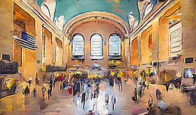Digital Art - New York City Impressions Penn Station by Yury Malkov