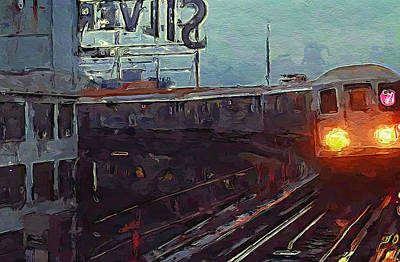 Digital Art - New York City Impressions Subway 1 by Yury Malkov