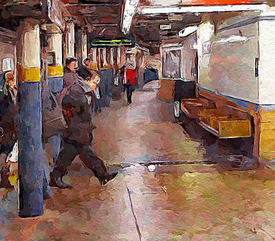 Digital Art - New York City Impressions Subway 2 by Yury Malkov