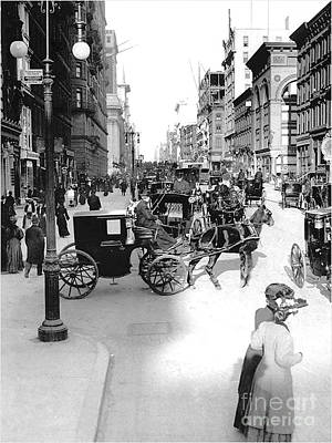 Photograph - New York City In The Year 1880 by Merton Allen