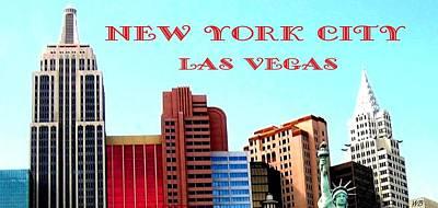 Digital Art - New York City- Las Vegas by Will Borden