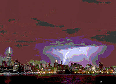Mixed Media - New York City Lighting by Charles Shoup