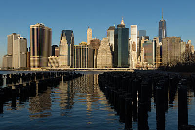 Photograph - New York City Magic - Lower Manhattan Brilliant Reflections by Georgia Mizuleva
