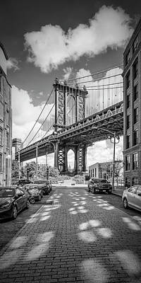 Photograph - New York City Manhattan Bridge - Panorama by Melanie Viola