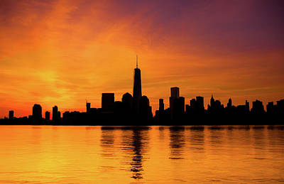 Painting - New York City Manhattan Sunrise Skyline by Christopher Arndt