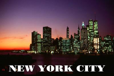 Photograph - New York City - Manhattan Sunset Skyline by Art America Gallery Peter Potter