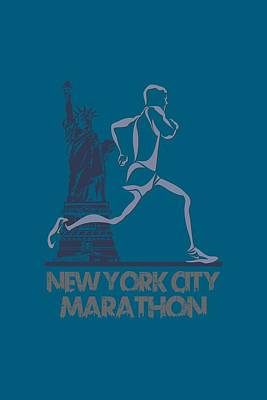 New York City Marathon3 Art Print by Joe Hamilton