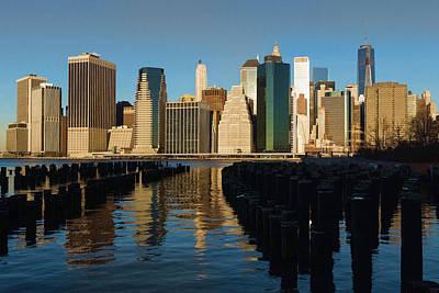 New York City Morning Reflections - Impressions Of Manhattan Art Print