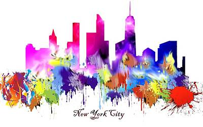 New York City Skyline Drawing - New York City New World Trade Center by Peter Nowell