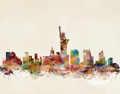 Painting - New York City New York Skyline by Bri B