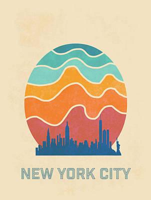 Screen-print Digital Art - New York City by Nicole Wilson