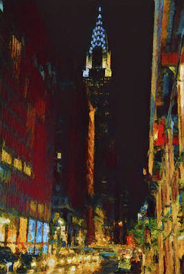 New Mind Painting - New York City Night Lights by Dan Sproul