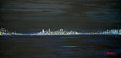 Stary Sky Painting - New York City Nights by Jack Diamond