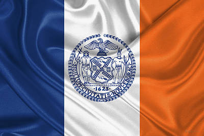 Digital Art - New York City - Nyc Flag by Serge Averbukh