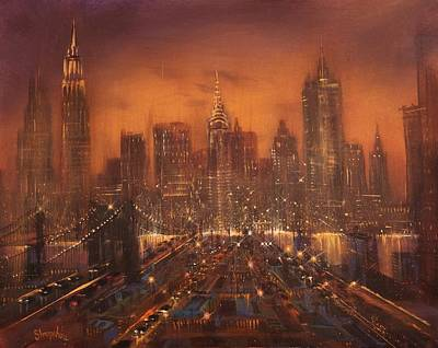 Immigrant Painting - New York City Of Dreams by Tom Shropshire