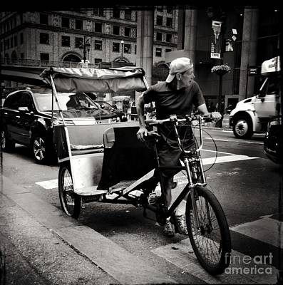 Photograph - New York City Pedicab by Miriam Danar