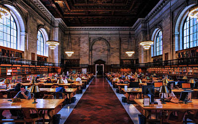 Painting - New York City Public Library Rose Reading Room by Christopher Arndt