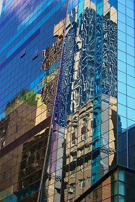 Photograph - New York City Reflections by Polly Castor