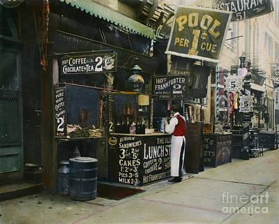 Photograph - New York City Restaurant by Granger