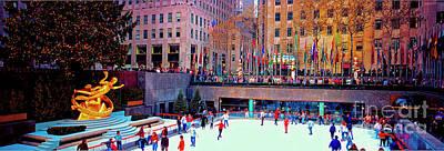New York City Rockefeller Center Ice Rink  Art Print