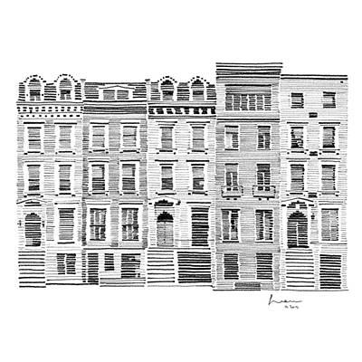 American City Scene Drawing - New York City Scene by Hieu Tran