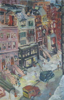 Wall Art - Painting - New York City Scene by Inge Klimpt
