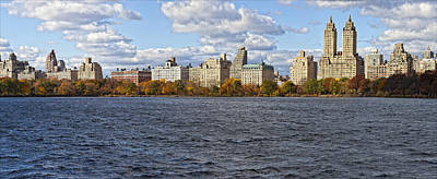 Skylines Royalty-Free and Rights-Managed Images - New York City Sky Line Central Park Reservoir Facing West 3 by Robert Ullmann