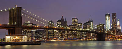 Photograph - New York City Skyline And Brooklyn Bridge  by Juergen Roth