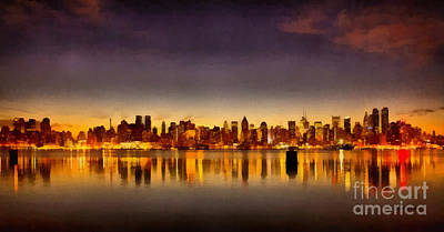 Painting - New York City Skyline by Edward Fielding