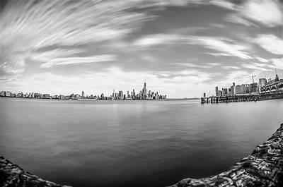 Skylines Photograph - View Of Lower Manhattan Skyline Viewed From Hoboken, New Jersey by Rick Grossman