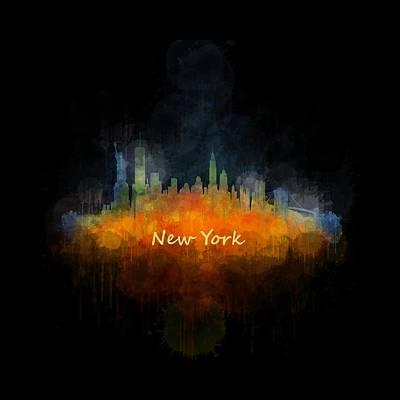 New York City Skyline Hq V04 Art Print by HQ Photo