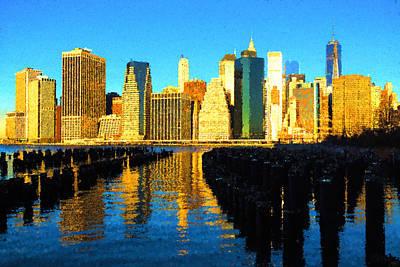 New York City Skyline - Impressions Of Manhattan Art Print