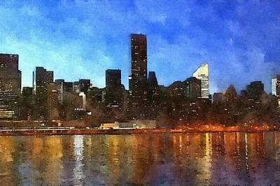 Painting - New York City Skyline by Modern Art