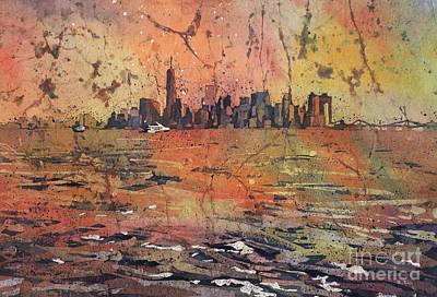 American City Scene Painting - New York City Skyline by Ryan Fox