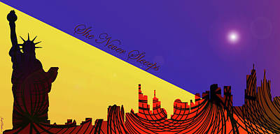 Digital Art - New York City Skyline - She by Sir Josef - Social Critic - ART