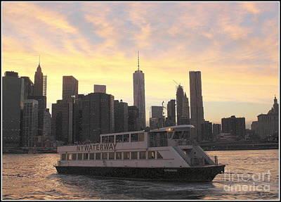 Photograph - New York City Skyline - The Golden Hour by Dora Sofia Caputo Photographic Art and Design