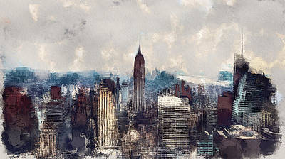 Digital Art - New York City Skyline by Yury Malkov