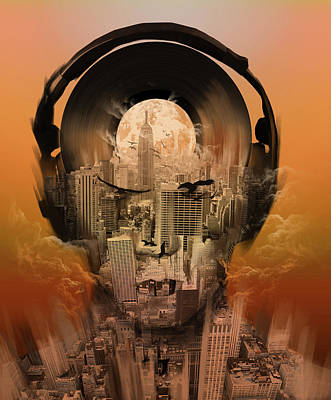 Digital Art - New York City Sound 3 by Bekim Art