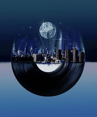 Digital Art - New York City Sound 7 by Bekim Art