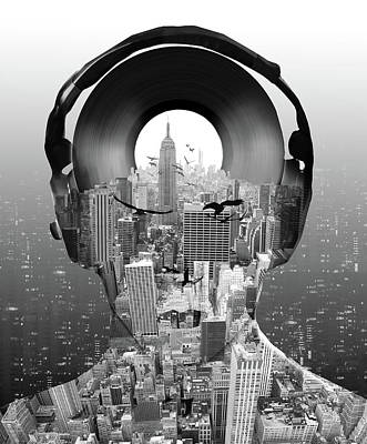 Digital Art - New York City Sound by Bekim Art