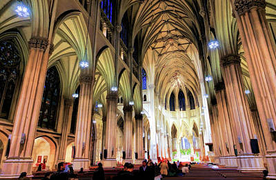 Painting - New York City St Patrick's Cathedral by Christopher Arndt