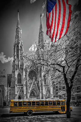 New York City St. Patrick's Cathedral Art Print by Melanie Viola