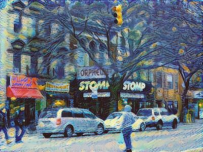 Digital Art - New York City Starry 1 by Yury Malkov