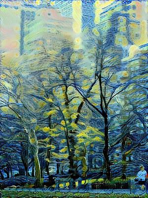 Digital Art - New York City Starry 2 by Yury Malkov