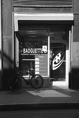 Photograph - New York City Storefront Bw2 by Frank Romeo