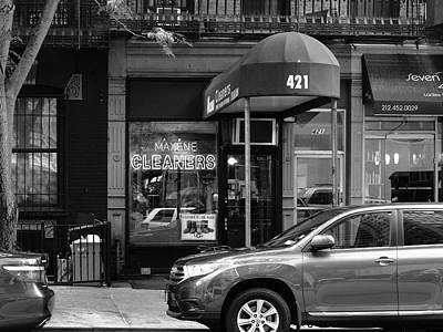 Photograph - New York City Storefront Bw3 by Frank Romeo